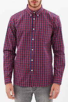 Camicia tartan in tre colori, Bianco/Blu/Rosso, hi-res