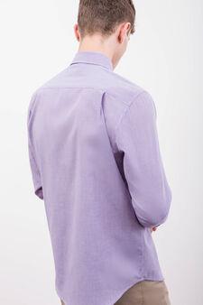 Formal shirt with pocket, Lilac, hi-res