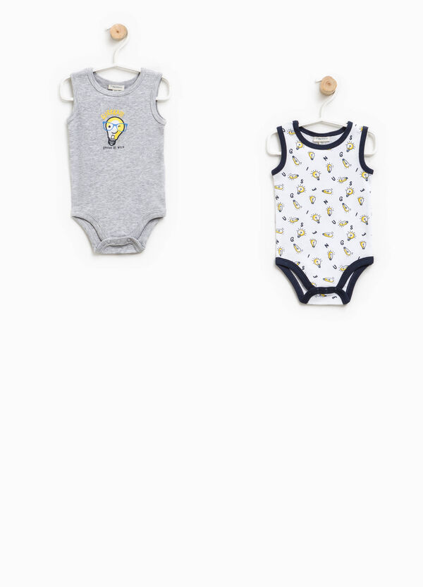 Two-pack bodysuits patterned and solid colour | OVS
