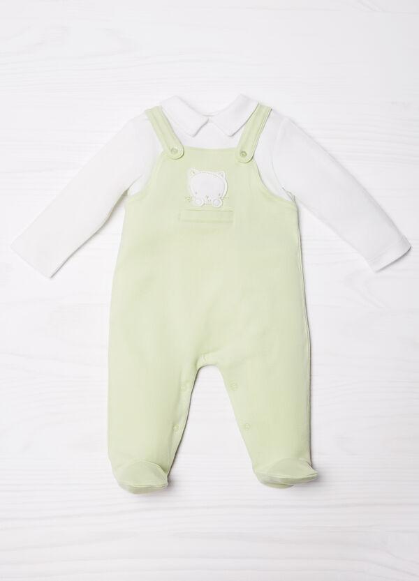 100% cotton onesie with feet | OVS