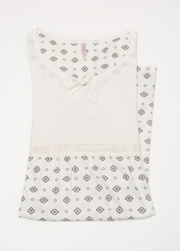 100% cotton nightshirt with insert | OVS