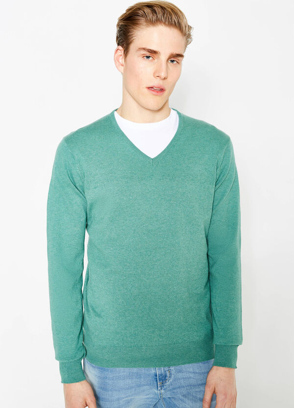 V-neck pullover in 100% cotton | OVS