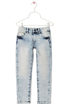 Skinny fit, faded-effect jeans, Denim Blue, hi-res
