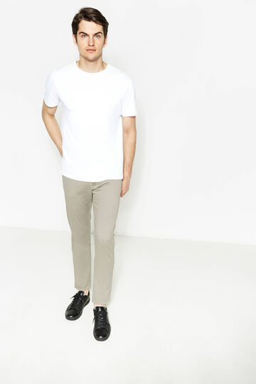 Regular-fit, stretch chino trousers, Dove Grey, hi-res