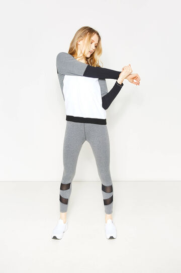 Leggings mélange stretch, Grigio melange, hi-res