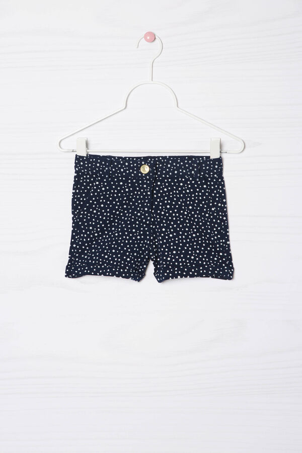 Stretch cotton polka dot shorts | OVS