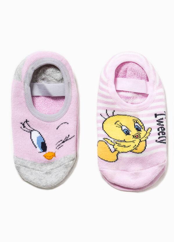 Two-pair pack Tweety Pie slipper socks | OVS