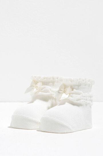 Zapatos de algodón con lacito