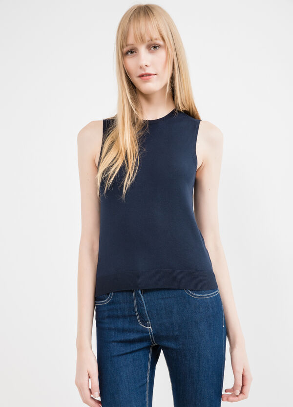 Sleeveless knitted sweater | OVS
