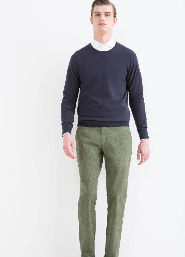 Rumford stretch cotton trousers | OVS