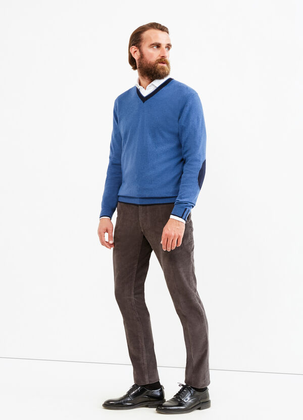 Cashmere blend Rumford pullover with patches | OVS