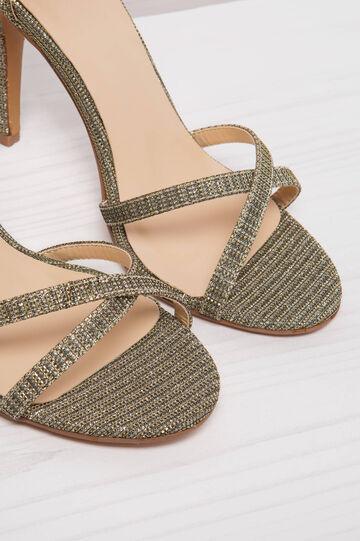 Sandals with heel, Golden Yellow, hi-res