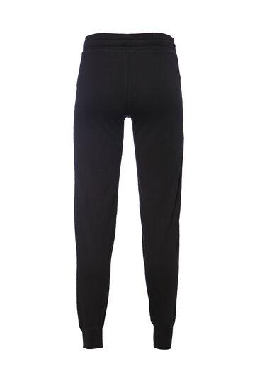 Smart Basic plain cotton trousers, Black, hi-res