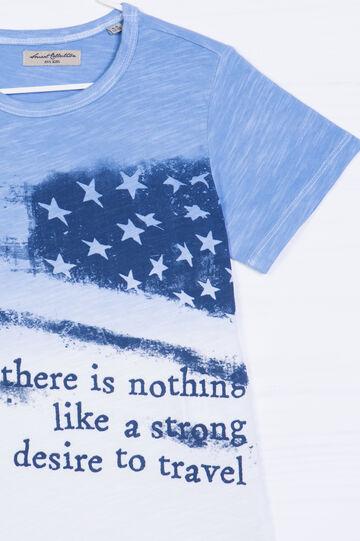 Degradé printed cottonT-shirt, White, hi-res