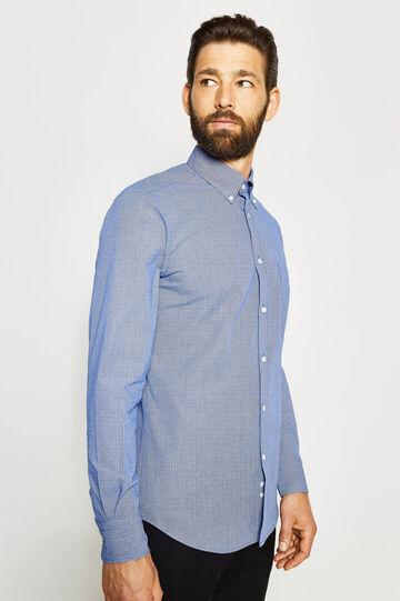 Camisa formal regular fit con cuello abotonado, Blanco/Azul, hi-res