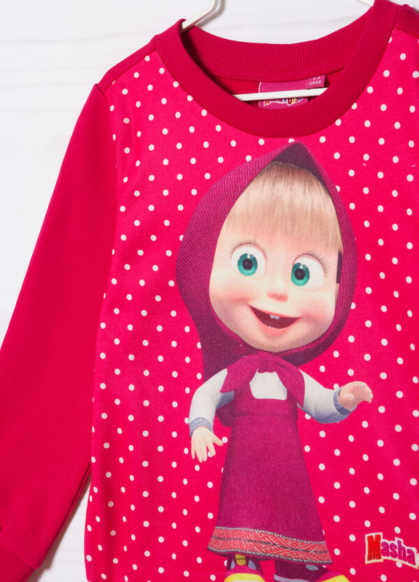 Masha and the Bear stretch cotton T-shirt | OVS