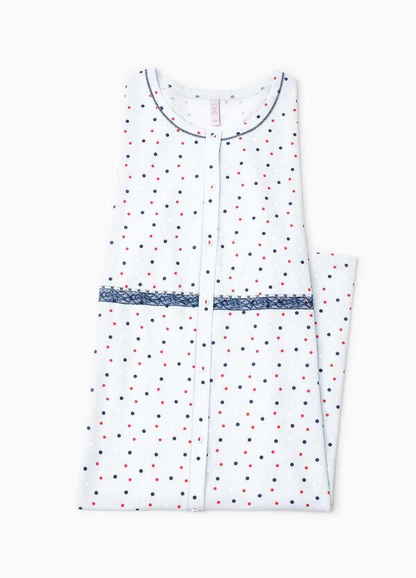 Polka dot cotton nightshirt | OVS