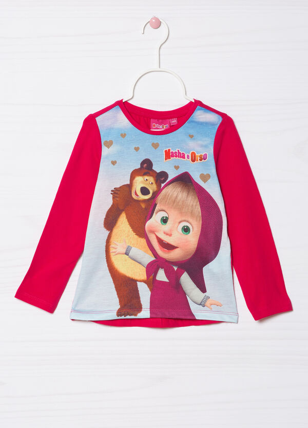 Masha and the Bear T-shirt in stretch cotton | OVS