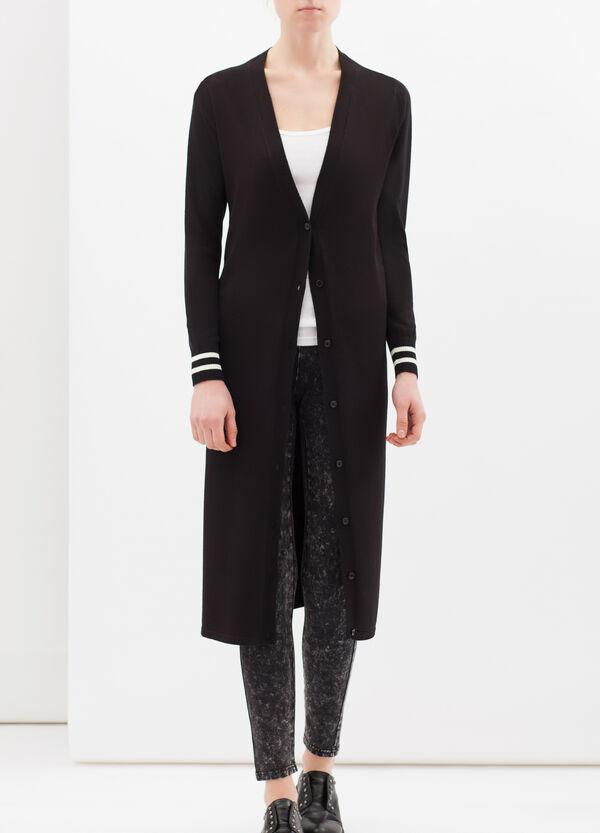 Printed cardigan in viscose blend | OVS