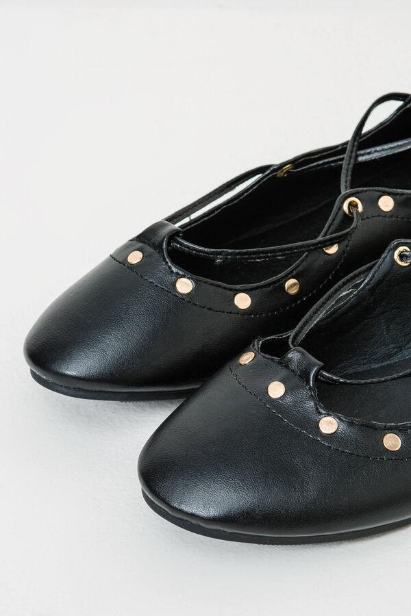 Ballerina flats with ties and low heel | OVS