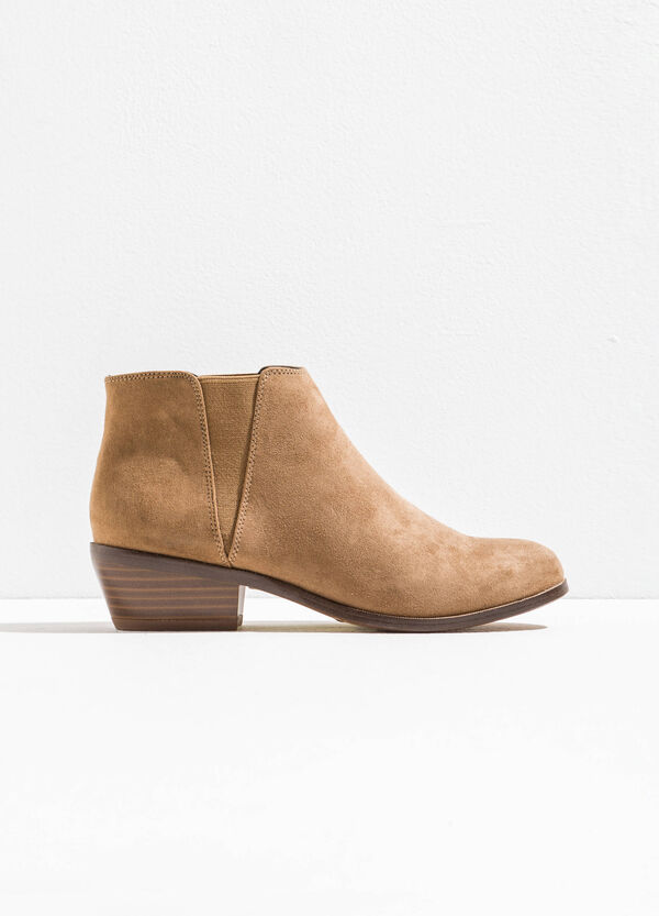 Suede ankle boots with heel | OVS