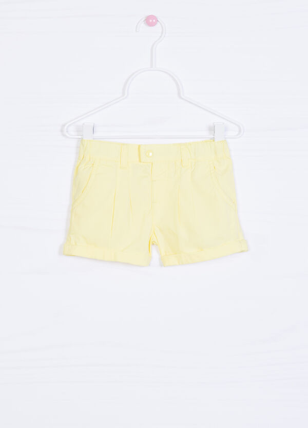 100% cotton pleated shorts | OVS