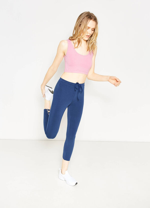Stretch crop leggings with pocket | OVS