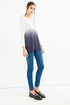Skinny-fit, mis-dyed-effect jeggings, Medium Wash, hi-res