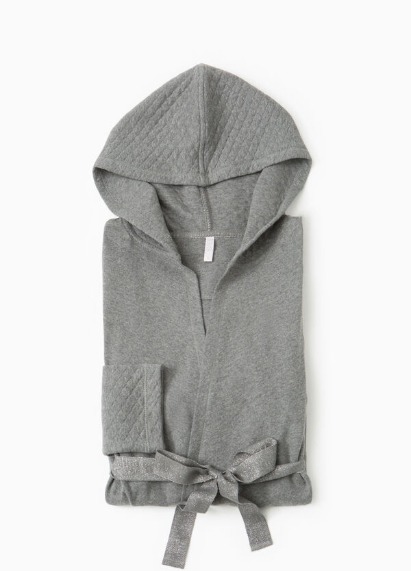 Cotton dressing gown with diamond weave | OVS