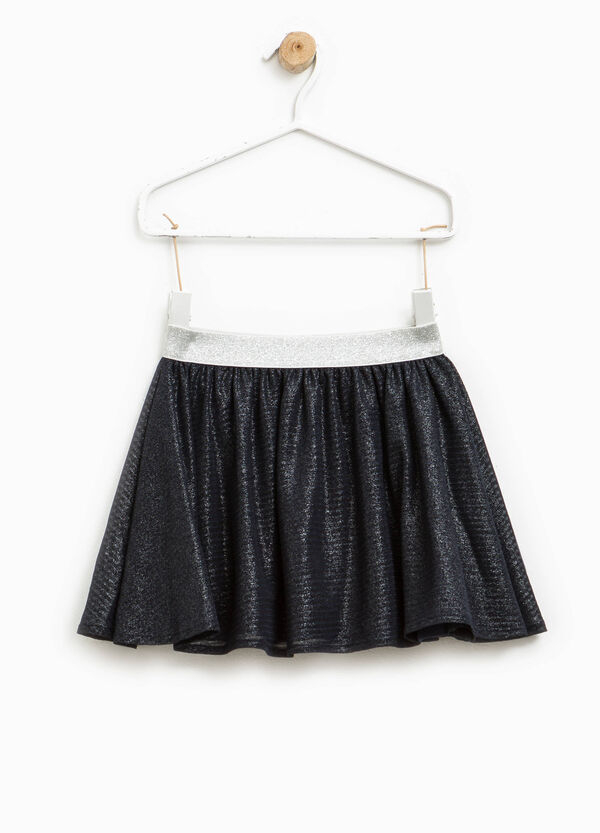 Glitter skirt with pleats | OVS