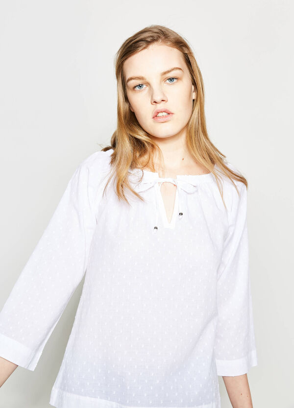 Speckled blouse with boat neck | OVS