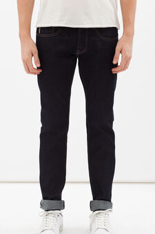 Jeans tinta unita, Blu denim, hi-res