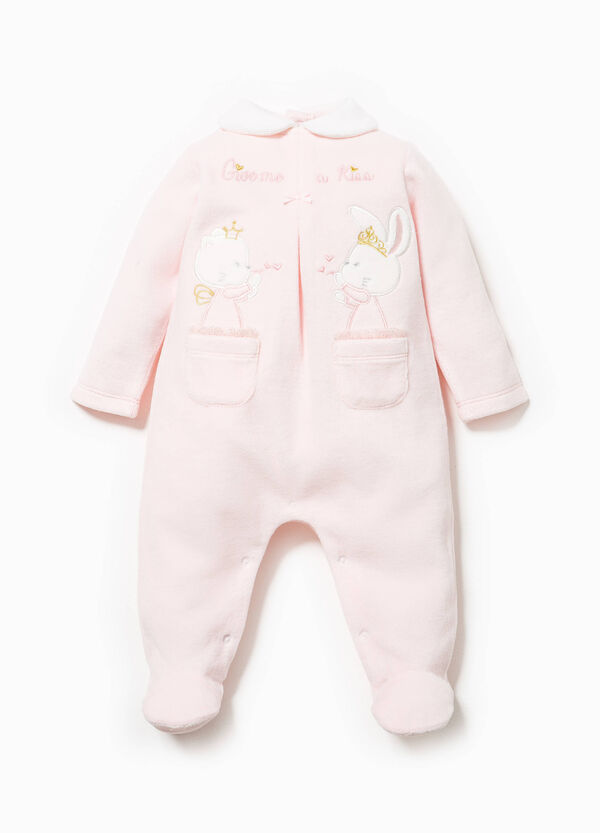Onesie with feet and patches with embroidery | OVS