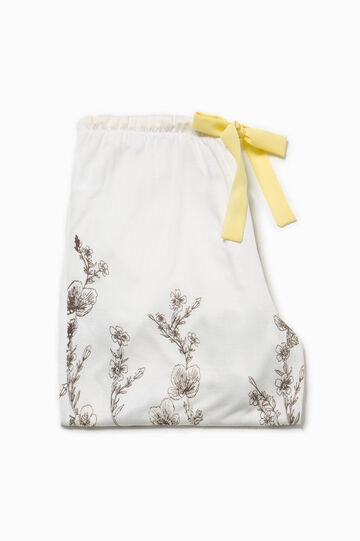 Floral pyjama bottoms with bow