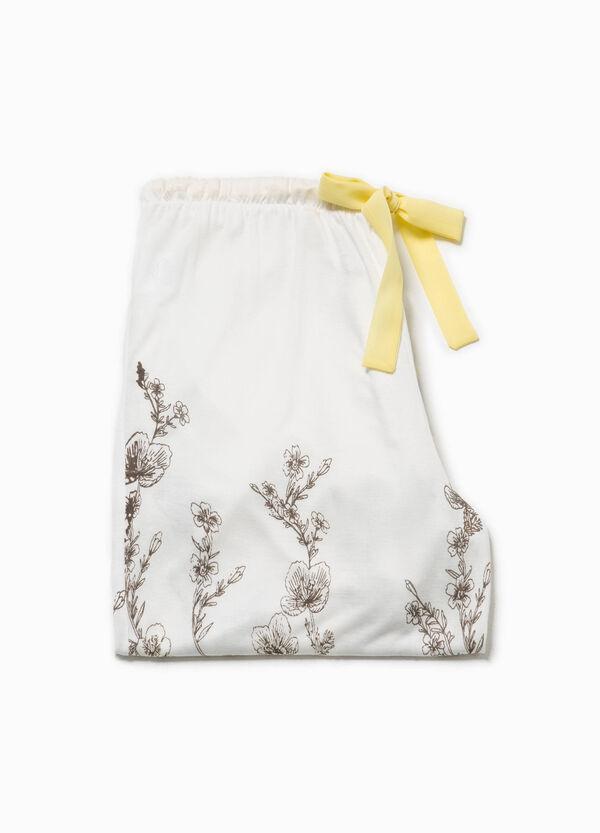 Pantalón de pijama con flores y lacito | OVS