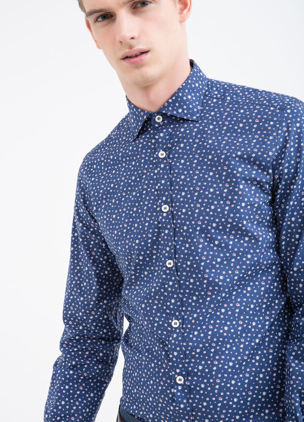 Rumford patterned cotton shirt | OVS