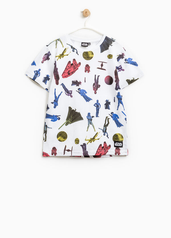 Star Wars pattern cotton T-shirt | OVS