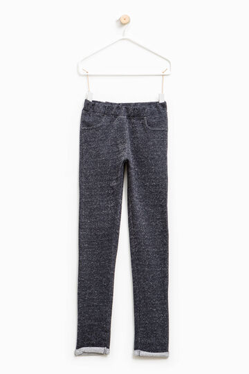 Cotton and lurex blend trousers