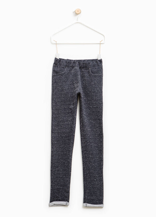 Cotton and lurex blend trousers | OVS