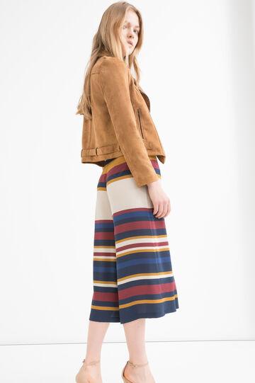 Gonna pantalone stretch rigata, Multicolor, hi-res