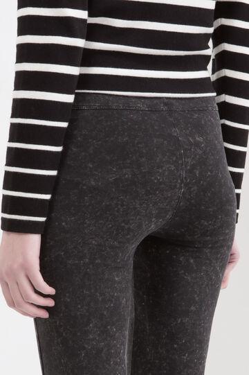 Stretch regular waist jeggings., Black, hi-res