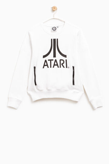 100% cotton sweatshirt with Atari print, White, hi-res