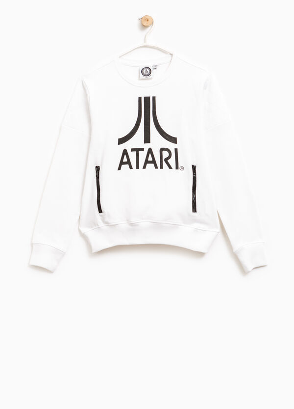 100% cotton sweatshirt with Atari print | OVS