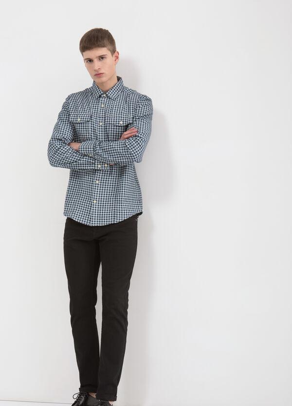 Camicia puro cotone a quadretti   OVS