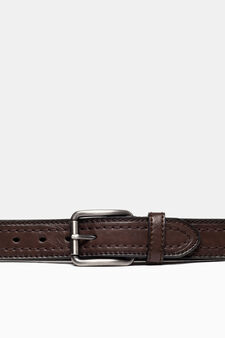Belt with matt buckle, Brown, hi-res