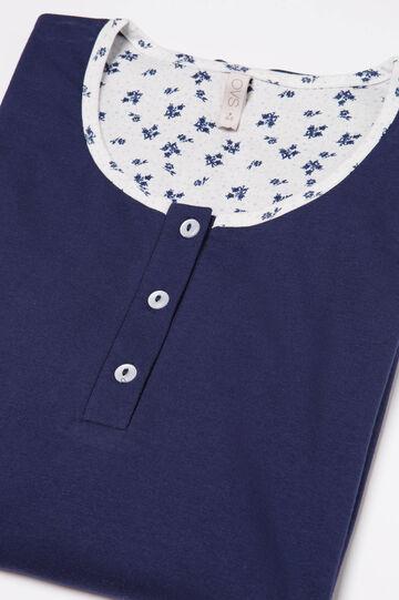 100% cotton printed pyjamas, Navy Blue, hi-res