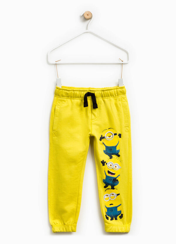 Cotton joggers with Minions print | OVS