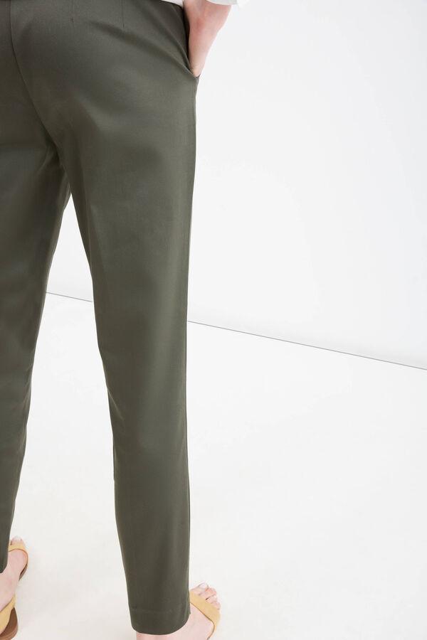 Pantaloni satin di cotone stretch | OVS