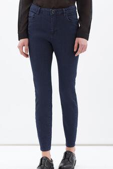 Plain stretch jeans, Dark Blue, hi-res