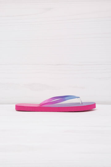 Degradé effect thong sandals, Fuchsia, hi-res